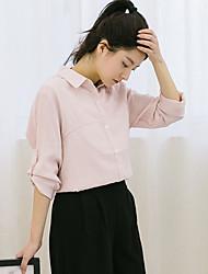 реальный выстрел! место! 2017 весной новый сладкий простота колледжа Ветер рубашку с длинными рукавами блузки два износа