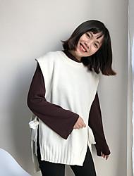 знак свитер жилет сплошной цвет боковые ремни