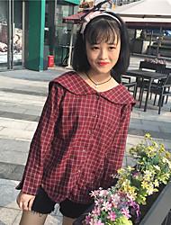 Sign Hitz long-sleeved plaid shirt female