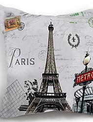 1 pçs Algodão Fronha Mantas,Torre Eiffel Regional Tradicional/Clássico