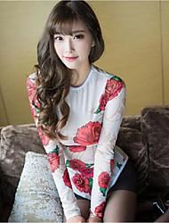 Ultra Sexy Vêtement de nuit Femme,Sexy Fleur-Moyen Spandex Blanc Aux femmes