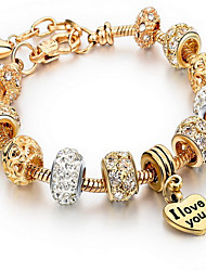 Chain Bracelet Crystal Alloy Natural Vintage Fashion Jewelry Gold Jewelry 1pc
