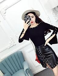 знак 2016 корейская мода секси рубашку с длинными рукавами тонкий был тонкий пакет хип юбка костюм