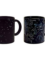 sensibles drinkware de changement de couleur de la chaleur, 360 ml constellation cadeau de motif tasse de café en céramique