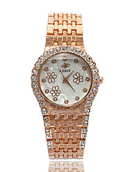 Fashion Watch Bracelet Watch Simulated Diamond Watch Quartz Alloy Band Silver Gold Rose Gold