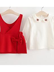 Girl's Sports Solid Dress,Rayon Fall Long Sleeve