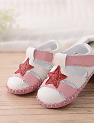 Baby Flats First Walkers PU Spring Fall Casual Outdoor Walking First Walkers Magic Tape Flat Heel Blushing Pink Flat