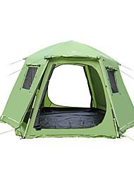 5-8 Pessoas Tenda Duplo Barracas para Acampamento Família Um Quarto Barraca de acampamento PoliésterProva de Água Respirabilidade Á