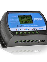 10a 12v / 24v carregador painel regulador de bateria solar com controlador PWM usb lcd