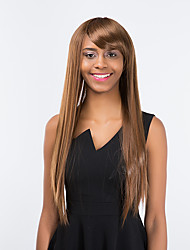 New pattern Fashionable Light brown Long Straight Hair Elegant Synthetic wig