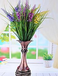 1 Ramo Plástico Lavanda Flor de Mesa Flores artificiais
