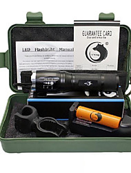 UKing ZQ-X909S-US Adjustable Portable High Power 2000Lm 5Mode CREE T6 LED Flashlight Torch Kit