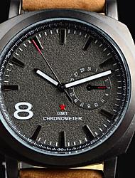 Relógio Esportivo Relógio de Moda Quartzo Couro Banda Marrom