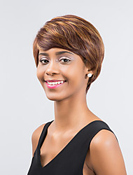 Refreshing Fashionable   Enchanting Comfortable Mixed Color Short Hair Synthetic Wig