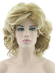 Bob Wave Curly Mix Color Natural Heat Resistant Wave Hair Wigs Heat Resistant Synthetic Wigs