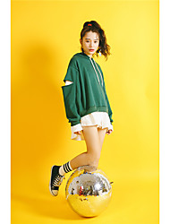 Model real shot 2017 spring new College Wind loose leave two hooded sweater thin section