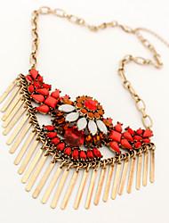 Women's Pendant Necklaces Jewelry Jewelry Gemstone AlloyUnique Design Pendant European Folk Style Tassels Fashion Personalized