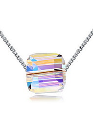 Necklace Crystal Pendant Necklaces Jewelry Daily Casual Single Strand Basic Design Alloy 1pc Gift Gold Multi Color