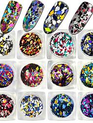 1 Bottle Fashion Mixed Color Glitter Rhombus Paillette Design Shiny Clear Nail Art DIY Decoration Optional LX01-12
