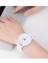 Mulheres Relógio Esportivo Quartzo / Plastic Banda Vintage Preta Branco Rosa Branco Preto Fúcsia