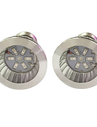 3W E14 GU10 E27 Luci LED per la coltivazione 6 SMD 5730 96-112 lm Rosso Blu V 2 pezzi