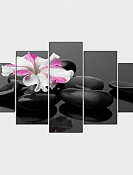 Floreale/Botanical Stile Modern,Cinque Pannelli Tela ogni Forma Stampa Decorazioni da parete For Decorazioni per la casa