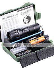 Beleuchtung LED Taschenlampen Taschenlampen Sets LED 2000 Lumen 5 Modus Cree XM-L T6 18650 AAA einstellbarer FokusCamping / Wandern /