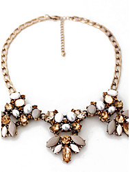 Women's Statement Necklaces Jewelry Gemstone Pearl Alloy Jewelry Fashion Personalized Euramerican Brown JewelryParty Special Occasion