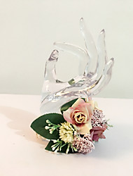 "Wedding Flowers Round Roses Wrist Corsages Dried Flower 5.12""(Approx.13cm)"