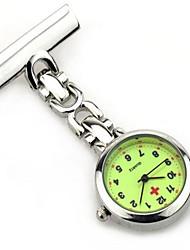 Relógio de Bolso Quartzo / Lega Banda Casual Prata