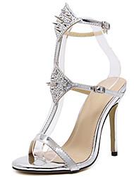 Damen-High Heels-Kleid-PU-Stöckelabsatz-Andere-Gold Schwarz Silber