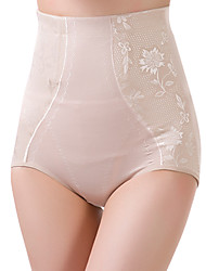 Women's Sexy Slimming High Waist Body Tummy Control Shaping Panties Nylon Spandex Female Underwear Beige