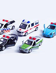 Voiture de Police Playsets de véhicules Jouets de voiture 1:64 Métal Plastique Arc-en-ciel Maquette & Jeu de Construction