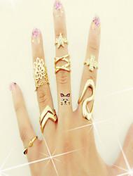Feminino Europeu bijuterias Bijuterias Destaque Jóias de Luxo Renda Imitações de Diamante Liga Trevo de Quatro Folhas Jóias Para Casual