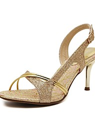 Women's Sandals/Dance Shoes/New/Latin/Jazz/Modern Sandals/Stiletto Heel/Club Dress/Gold