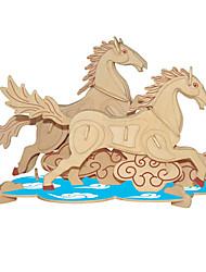 Пазлы Деревянные пазлы Строительные блоки Игрушки своими руками Лошадь 1 Дерево Со стразами Модели и конструкторы