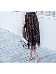 unterzeichnen 2017 Frühjahr neue Büste Frauen Faltenrock auf einem großen elastischen Taille Rock setzen ein Wort