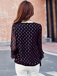 Миз. небольшой рубашки дна рубашки весна 2017 новый корейский короткий параграф с длинными рукавами рубашки шифон блузка женщины большого