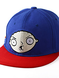 Unisex Cotton Blue Naughty Doll Embroidery Printing Hip Hop Baseball Flat Cap