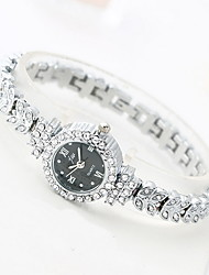 Women's Fashion Watch Quartz Alloy Band Sparkle Cool Casual Luxury Silver