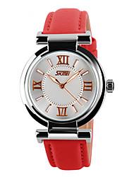 Men's Women's Unisex Sport Watch Dress Watch Skeleton Watch Fashion Watch Wrist watch Quartz Genuine Leather Band Charm Casual