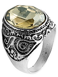 Ring Daily Casual Jewelry Crystal Alloy Ring 1pc,8 9 10 11 Yellow