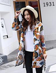 2017 nouvelles femmes de grande taille&fleur chemise de fan de coton gras mm de long section des engrais pour augmenter la chemise