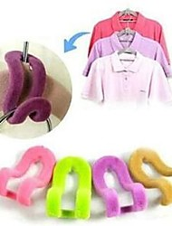 4Pcs Magic Clothes Hanger With Hook Closet Organizer 3D Space Saving Hanger  Random Color
