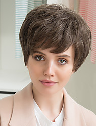 Fluffy Prevailing Partial bangs Human Hair Wig