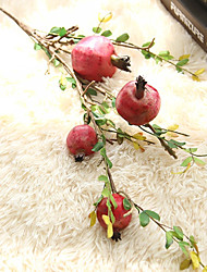 1 Branch(4Heads) Foamed Plastics High Simulation Pomegranate Artificial Flowers