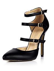 les talons du club d'été des chaussures de bureau pu&partie de carrière&robe de soirée noire