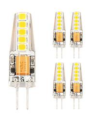 2W Luci LED Bi-pin T 10 SMD 2835 180 lm Bianco caldo Luce fredda V 5 pezzi