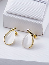 Stud Earrings Opal Fashion White Jewelry Daily Casual 1 pair