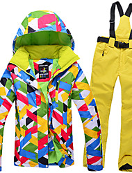 Ski Wear Ski/Snowboard Jackets Clothing Suits Women's Winter Wear Polyester Winter Clothing Waterproof Thermal / Warm Windproof Wearable